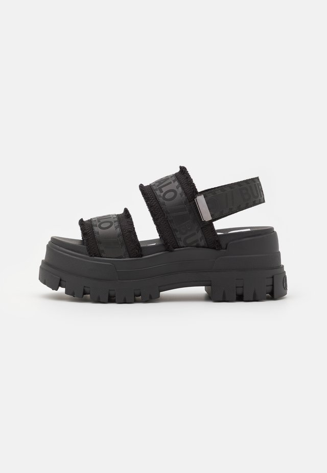 VEGAN ASPHA  - Sandales à plateforme - black