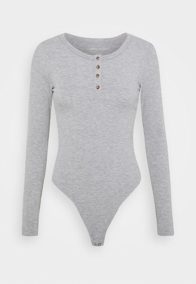 HENLEY BODYSUIT - T-shirt à manches longues - gray
