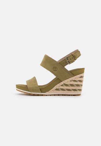 CAPRI SUNSET WEDGE - Wedge sandals - olive
