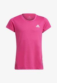 adidas Performance - AEROREADY 3-STREIFEN - Camiseta estampada - pink - 0