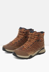 The North Face - M HEDGEHOG HIKE II MID WP - Lace-up ankle boots - timber tan/india ink - 2