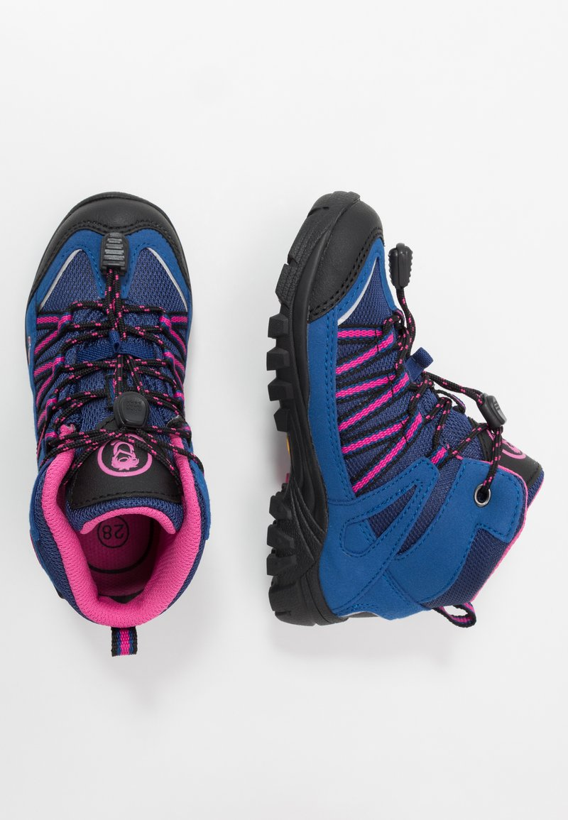 TrollKids - KIDS LOFOTEN MID - Hiking shoes - blue/magenta