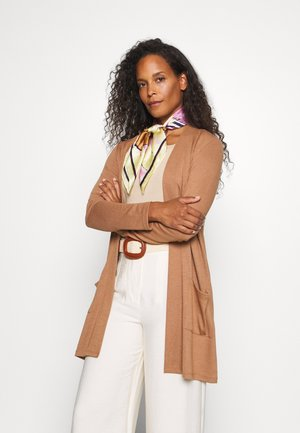 CARDIGAN LONG - Cardigan - light chestnut
