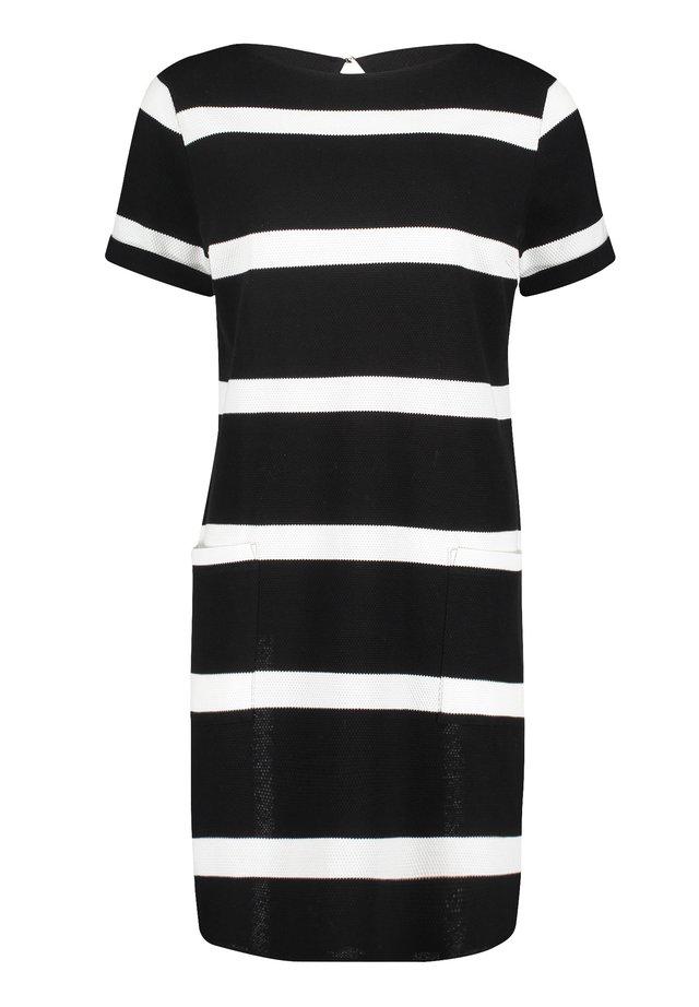 KURZARM - Jersey dress - schwarz/weiß