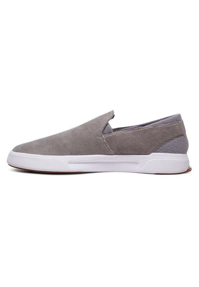 QUIKSILVER™ SURF CHECK PREMIUM - CHAUSSURES SLIP-ON POUR HOMME A - Slipper - grey/grey/white