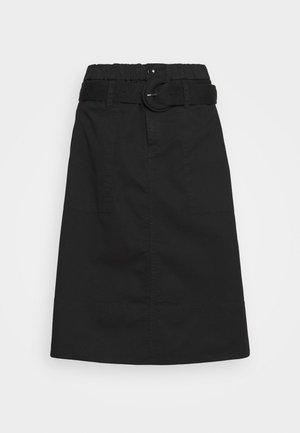 BELTED SKIRT - A-line skirt - black