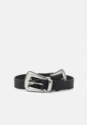 PCNANDI WAIST BELT - Cinturón - black/silver-coloured