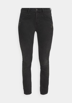 JONA - Jeans Skinny - used dark stone black denim