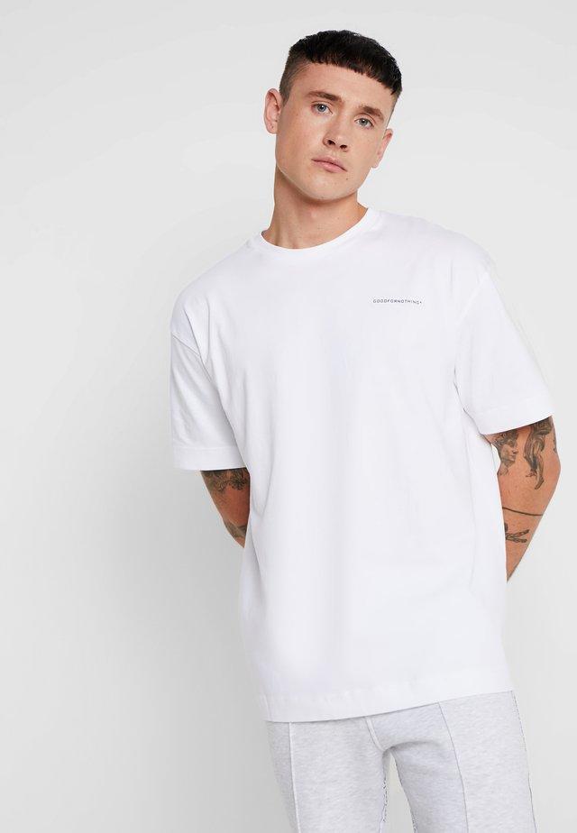 ESSENTIAL OVERSIZED - T-paita - white