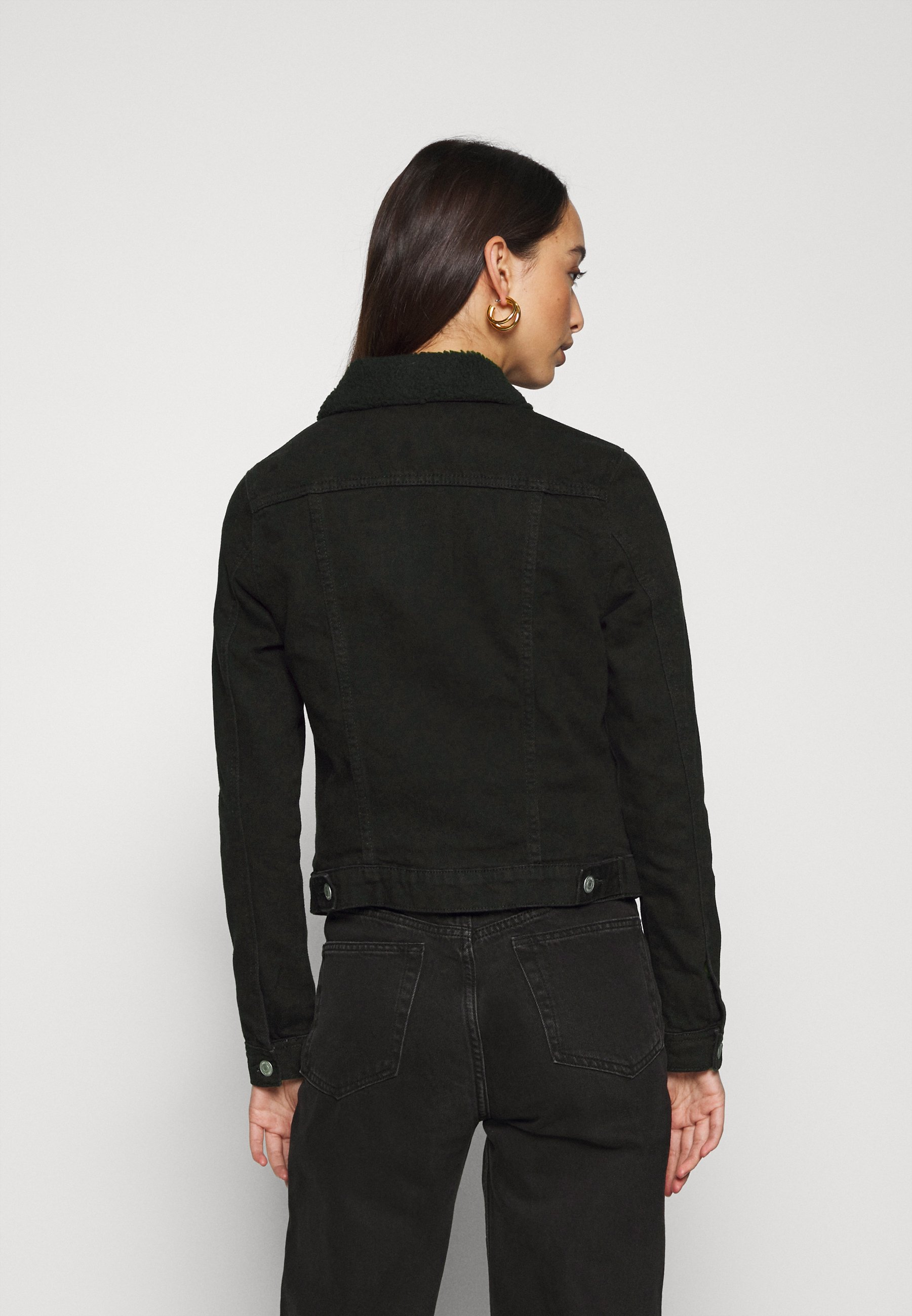 New Look BORG JACKET MELISSA Jeansjacke black/schwarz