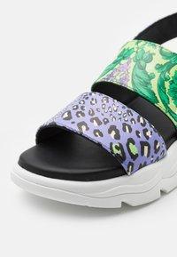 Versace - Sandals - jacaranda/mint/gold - 5