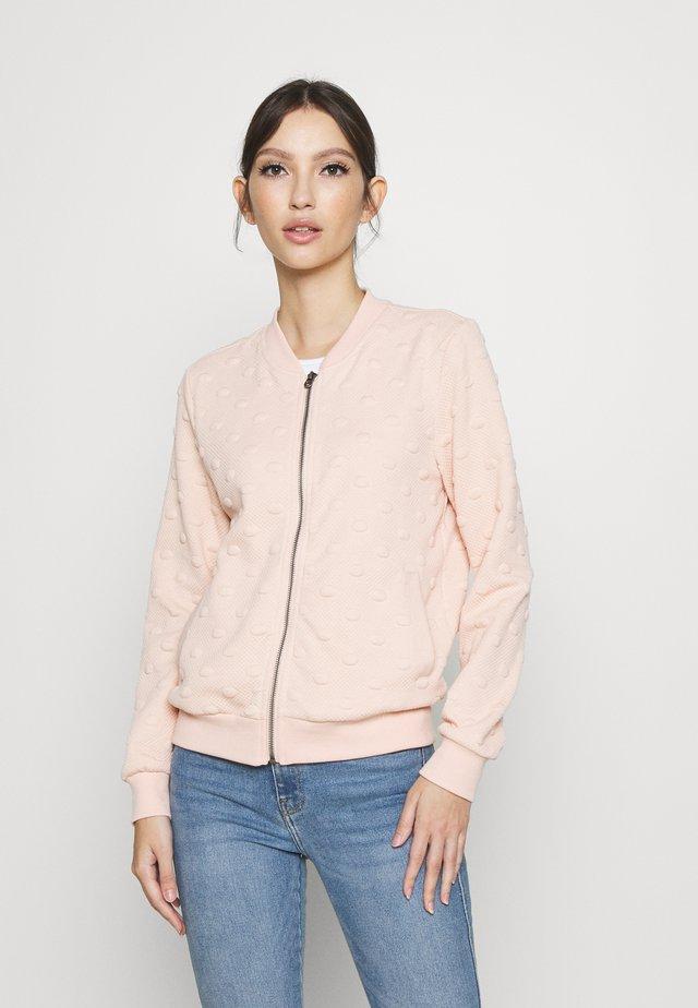 ONLKIMBERLY JOYCE - veste en sweat zippée - cameo rose