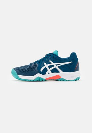 GEL-RESOLUTION 8 UNISEX - Allcourt tennissko - mako blue/white