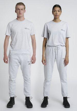 T-shirt med print - lt grey melange