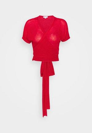FINE WRAP - Cardigan - red