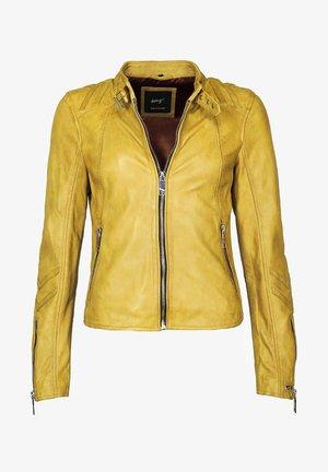 LINDSAY - Leather jacket - yellow