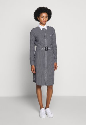 HEIDI LONG SLEEVE CASUAL DRESS - Shirt dress - black/white