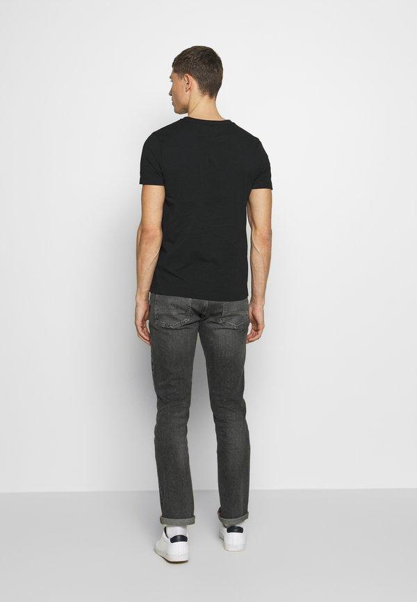 Tommy Hilfiger TEE - T-shirt z nadrukiem - black/czarny Odzież Męska TDJL