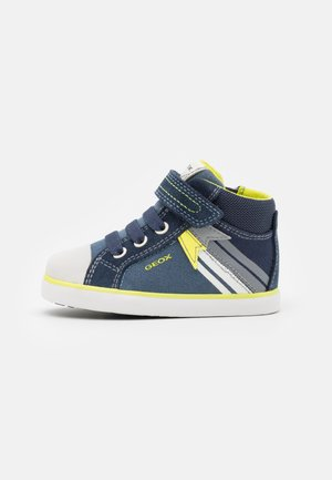 KILWI BOY - Baby shoes - navy/fluo yellow