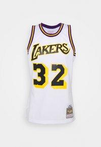 Mitchell & Ness - NBA LOS ANGELES LAKERS RELOAD SWINGMAN MAGIC JOHNSON - Club wear - white - 4