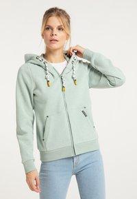 Schmuddelwedda - Zip-up sweatshirt - rauchmint melange - 0