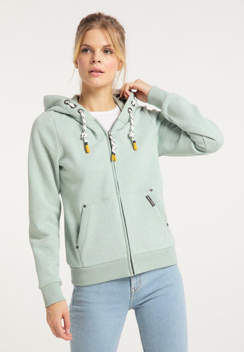 Schmuddelwedda - Zip-up sweatshirt - rauchmint melange