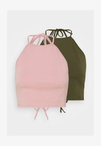 2 PACK - Top - light pink/olive