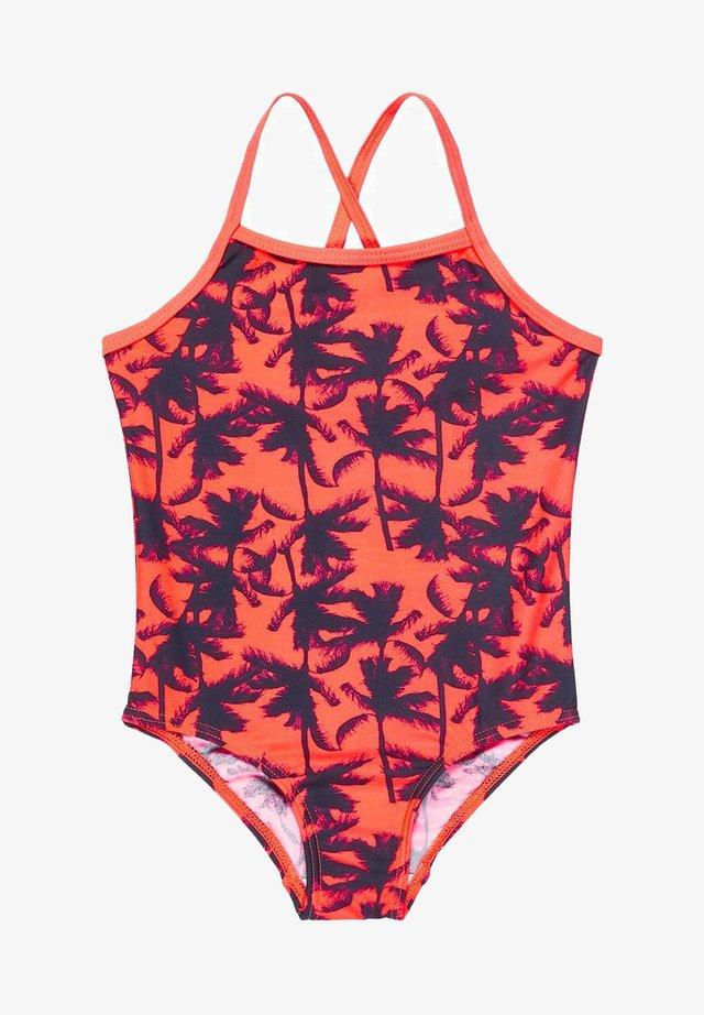 BADEANZUG GEMUSTERTER - Swimsuit - fiery coral