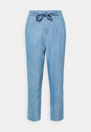 VMMIA LOOSE TIE PANT - Trousers - light blue denim