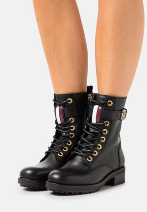 ESSENTIALS BOOT - Lace-up ankle boots - black
