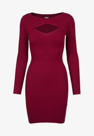 LADIES CUT OUT - Etui-jurk - burgundy