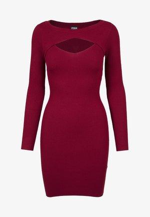 LADIES CUT OUT - Vestido de tubo - burgundy