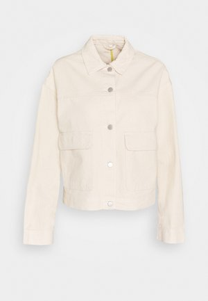 VIMOANO JACKET - Denim jacket - natural melange/celery binding