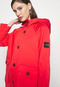 Calvin Klein - MID THIGH - Parka - orange odyssey - 6