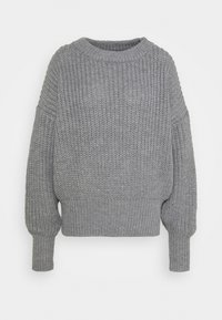 Missguided Tall - BASIC CHUNKY CREW NECK - Jumper - grey - 0