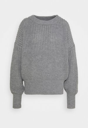 BASIC CHUNKY CREW NECK - Jumper - grey