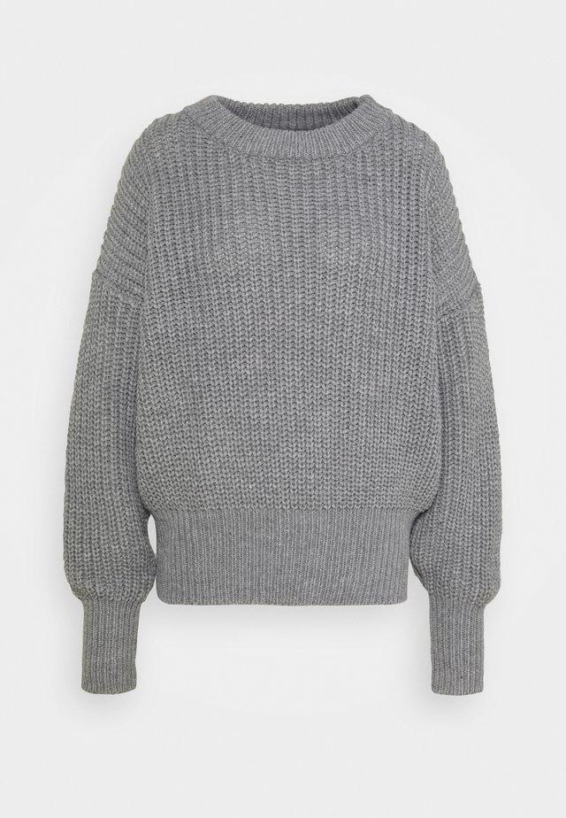 BASIC CHUNKY CREW NECK - Trui - grey