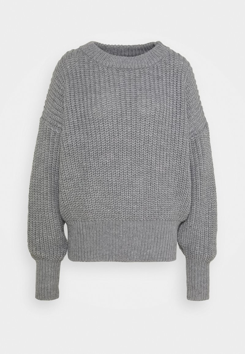 Missguided Tall - BASIC CHUNKY CREW NECK - Jumper - grey