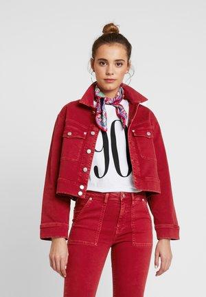 TIFFANY - Denim jacket - pillarbox red