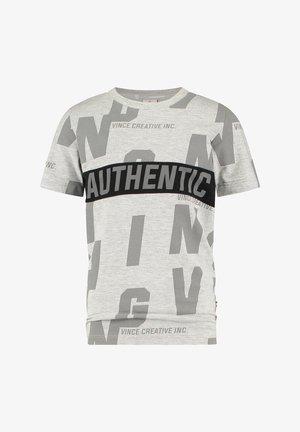 HECELLO - Print T-shirt - grey mele