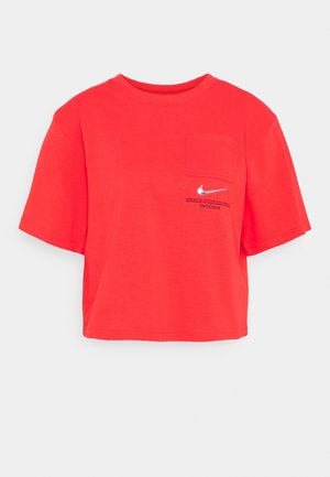 T-shirts med print - light crimson/black