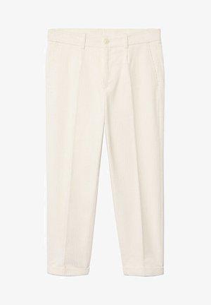 AUS CORD - Trousers - ecru