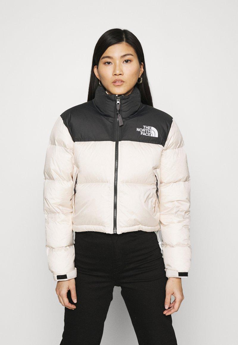 The North Face - NUPTSE CROP - Down jacket - pink tint