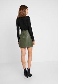 New Look - SEAMED - A-line skirt - dark khaki - 2