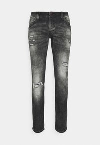 Jack & Jones - JJIGLENN JJFOX - Jeans slim fit - black denim - 0
