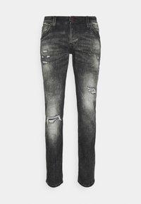 JJIGLENN JJFOX - Jeans slim fit - black denim