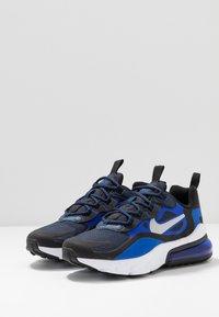 Nike Sportswear - AIR MAX 270 REACT - Sneakers basse - midnight navy/metallic silver/racer blue/black - 3