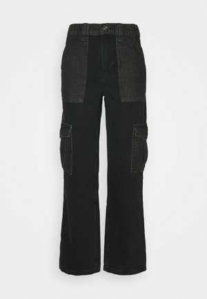 SKATE - Jean boyfriend - black/grey patchwork