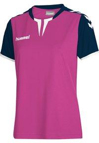 Hummel - CORE SS - Print T-shirt - rose violet/marine pr - 0