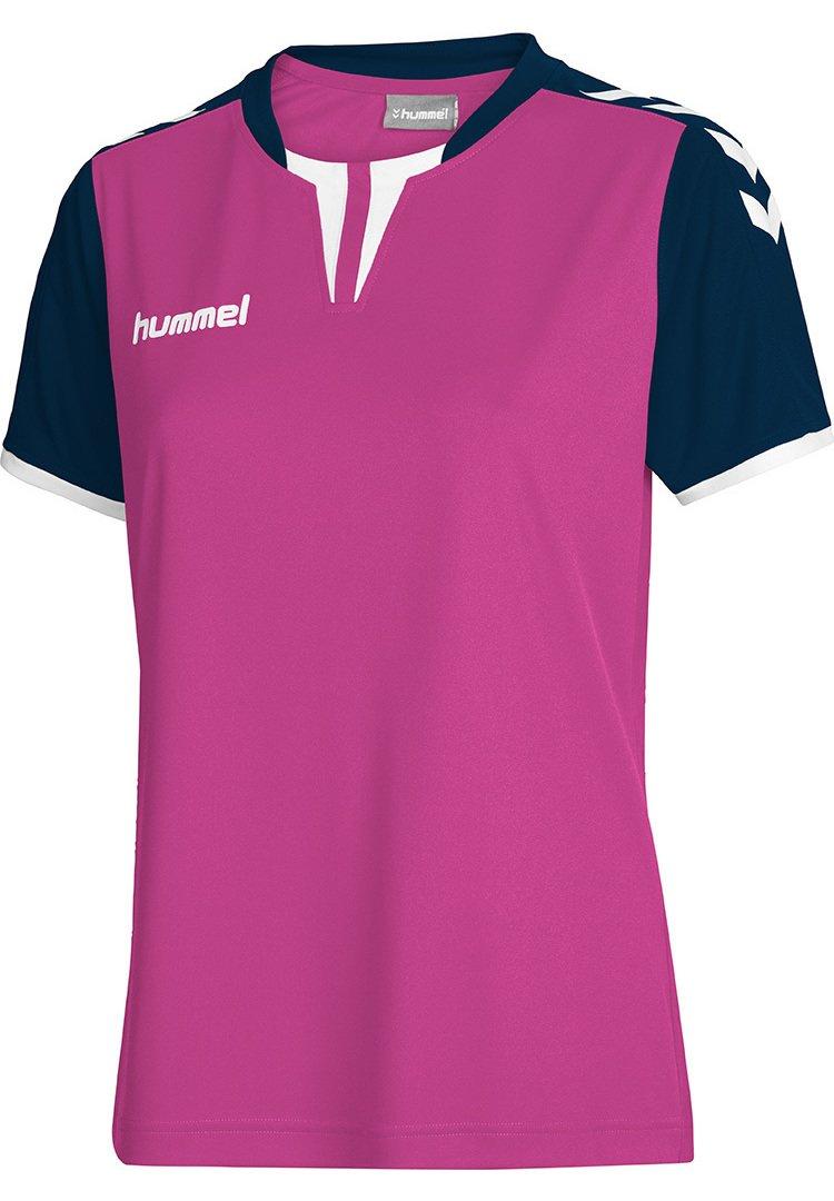 Hummel - CORE SS - T-shirt imprimé - rose violet/marine pr